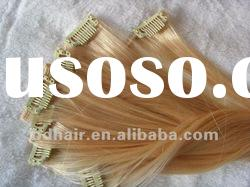 10-40inch top quality Human Hair- Clip On Hair Extension 100%human remy hair