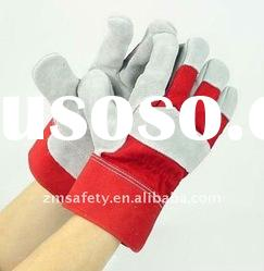 10.5'' Full Palm Cow Split Leather Work Gloves