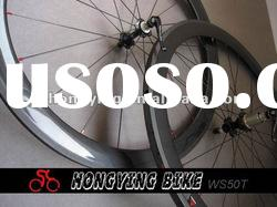 2012 hand built carbon tubular wheels , bicycle wheelset 50mm