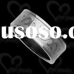 2012 wholesale fashion stainless steel jewelry ring/Cz setting