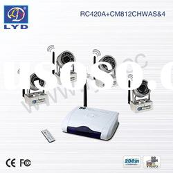 2.4Ghz 4 Channel Switchable Wireless CCTV IR Camera