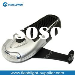 3 led light torch solar torch crank dynamo torch light