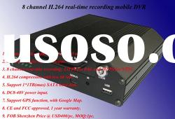 8 Channel Mobile Dvr with GPS Function (New Hot)