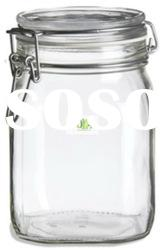 Bale Square Glass Jar 38oz w/ Swing top Lid