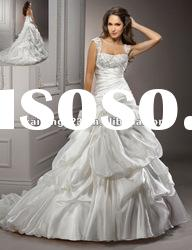 Beautiful Ball Gown Removable Cap Sleeve Bridal Wedding Dress