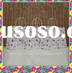 Beautiful printing lady paper bag design