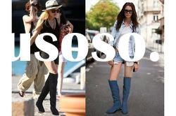 Fast shipping suede knee high women winter boots aw025 paypal