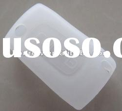 High Quality Peugeot remote silicon key cover (white) & remote key case