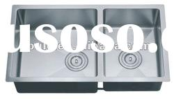 Hot Sales Bowl 18 Gauge kitchen stainless steel double sink