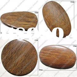 Imitate wood acrylic beads, round, 10mm, sold by bag, AB4134