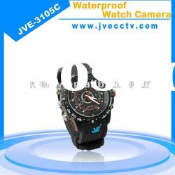 JVE-3105C hidden watch dvr recorder; watch camcorder camera;waterproof watch camera