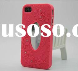 Mirror case cover rose case for iPhone 4 4S