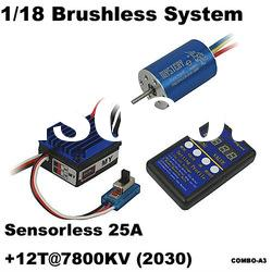 Mystery 1/18 Brushless System 1/16, 1/18 On-road competitive racing HL-SL25A + 12T/2030 7800KV