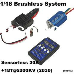 Mystery 1/18 Brushless System 1/18 Off-road competitive racing HL-SL25A + 18T/2030 5200KV