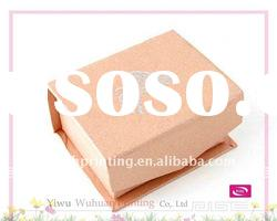 Orange Paper Delicate Gift Packaging Jewelry Box