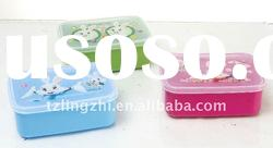 Plastic Children lunch box with heat printing