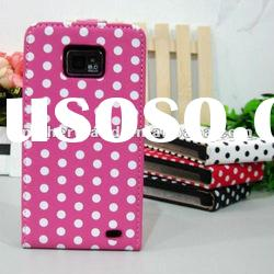 Polka Dots Pattern for Samsung Galaxy S2 I9100 Leather Case