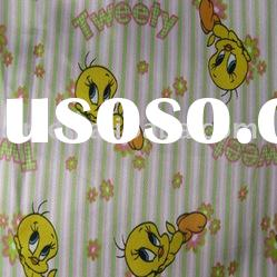 Polyester printed satin fabric