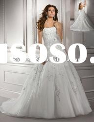 Princess Ball Gown Crystal Beaded Strapless Winter Wedding Dress
