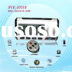 Self-contained Video Clock Camera, JVE-3311F Newest invisible HD Home Security hidden clock Camera