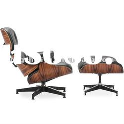 WHITE Eames Lounge Chair and Ottoman