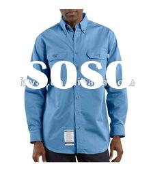 Worker Anti-oil 100%cotton twill Flame Resistant shirts /mechanic shirts/safety shirts