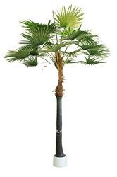 artificial fan palm tree indoor