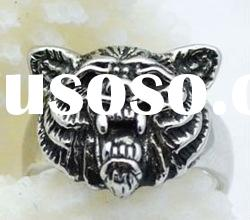 casting stainless steel tiger design cool rings