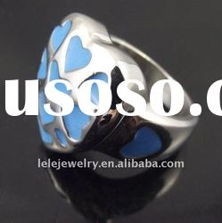 fashion blue stainless steel rings 2011