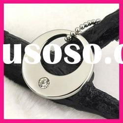 fashion cute silver color round pendant jewelry necklaces for women