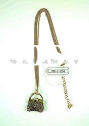 fashion necklace with bag pendant