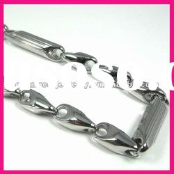 fashion nickel free men's stainless steel silver large chain link necklace