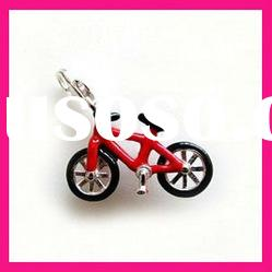 fashion red color bicycle pendant
