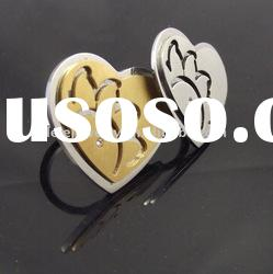 fashion stainless steel heart rings jewellery for lovers