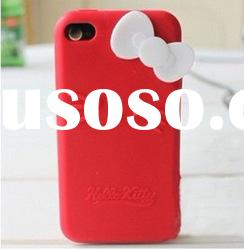 hello kitty silicon skin case for iphone 4