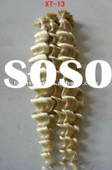high quality indian remy hair pre-bonded i -tip hair extension accept paypal