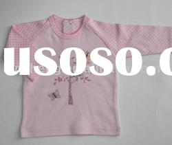 knitted wear pink long sleeve baby top