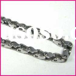 mens silver color fashion heavy stainless steel chain necklaces