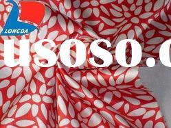 polyester printed stretch satin fabric/ stretch fabric