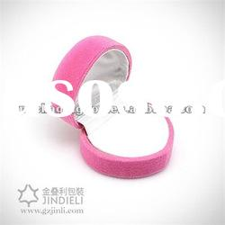 romantic pink ring plastic box for lady