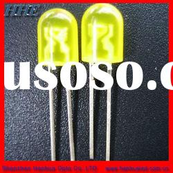 super bright 5mm yellow oval led diode for display