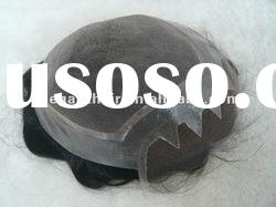 super mono lace toupee with human hair