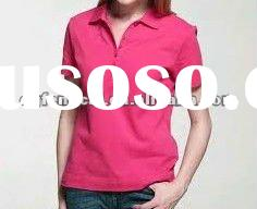 100% cotton polo shirt for women with embroidery