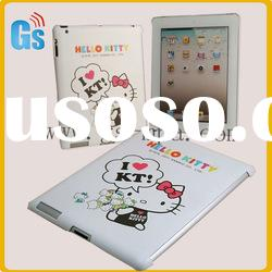 Cute hello kitty hard back cover case for ipad 2