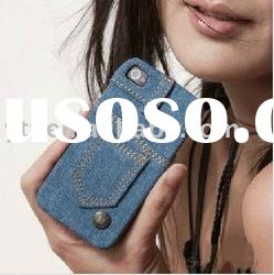 Fashion Stylish Jeans Protective cover case for Apple iPhone 4 4G