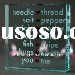 Glass Wedding Gifts With Personalized Words Engraved