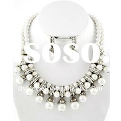 O & D Hot Sale Fashion Pearl Connected Earring Necklace