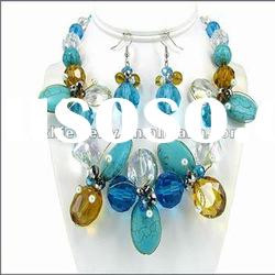 O & D Turquoise Fashion Necklace Set