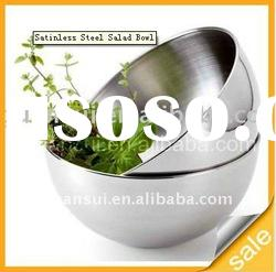 Stainless steel salad serving bowl