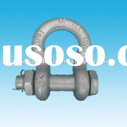 bolt type anchor shackle with head bolt - nut with cotter pin